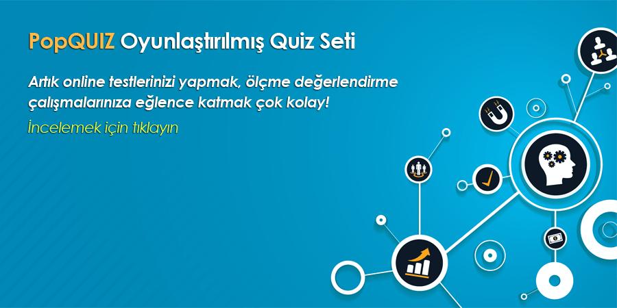 PopQuiz – Oyunlaştırılmış Quiz Seti