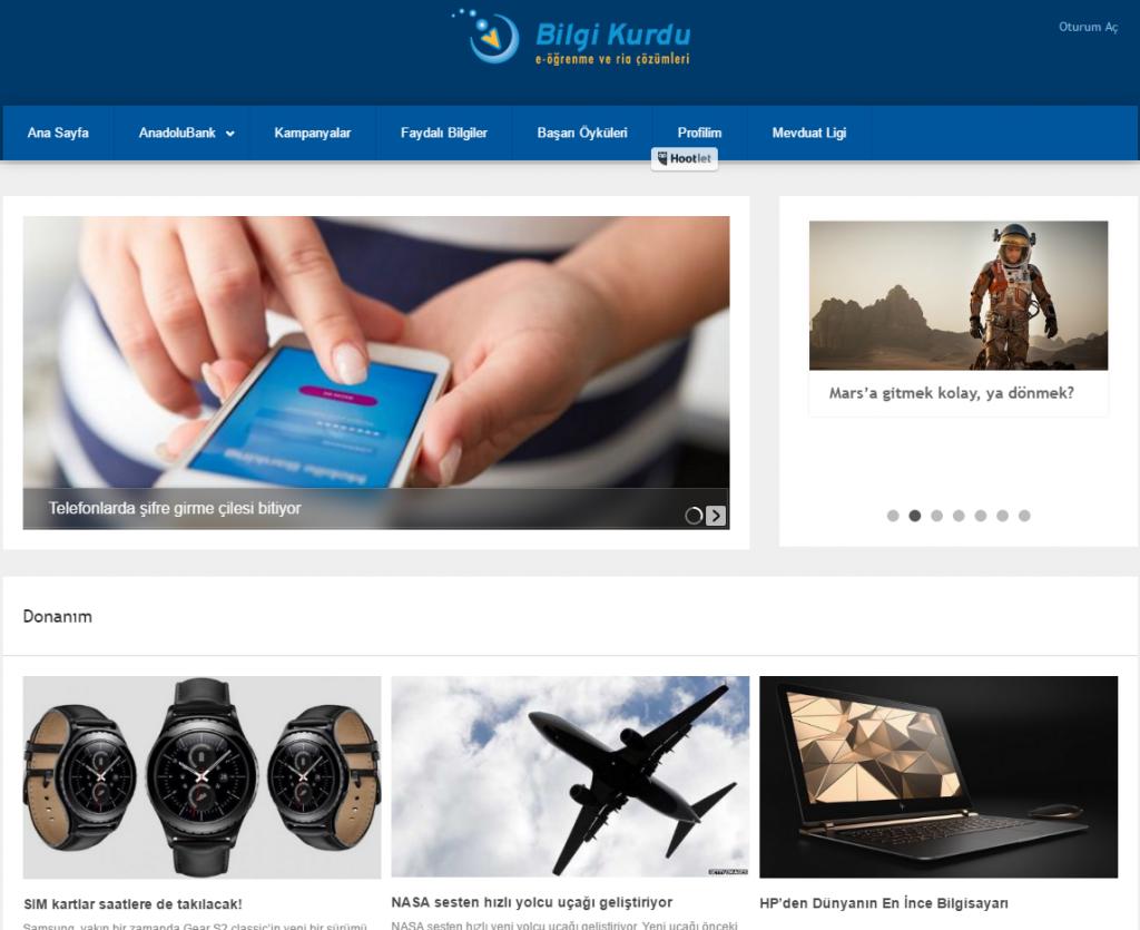 Bilgi Kurdu E-Öğrenme Kurumsal Portal Yazılımları